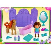 dora the explorer pony salon play set dora & horse figures + extras