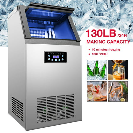 Preenex Commercial Ice Maker Machine For Restaurant Bar 36 Ice Cube 130lb/24h