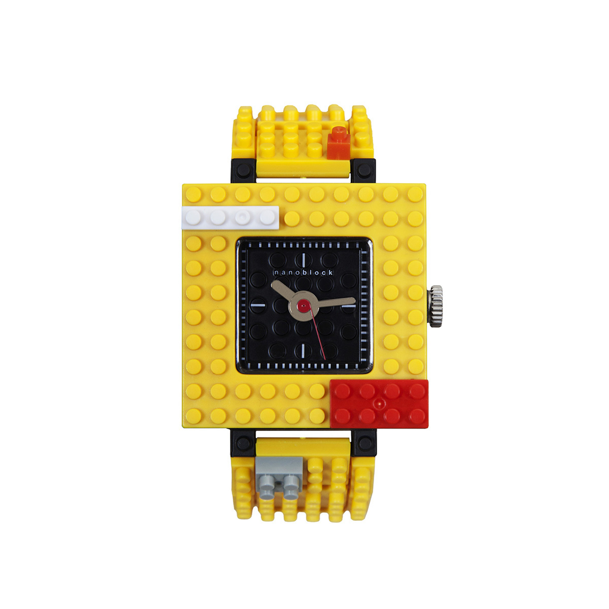 Nanoblocktime Nano Squared Watch, Yellow by Beta Enteprises Inc.