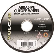 "1288588,ABRASIVE CUT-OFF WHEELS,ALUMINUM OXIDE - METAL ,7/8"" ROUND ARBOR,3/32"" Thick,Dia In=4-1/2"