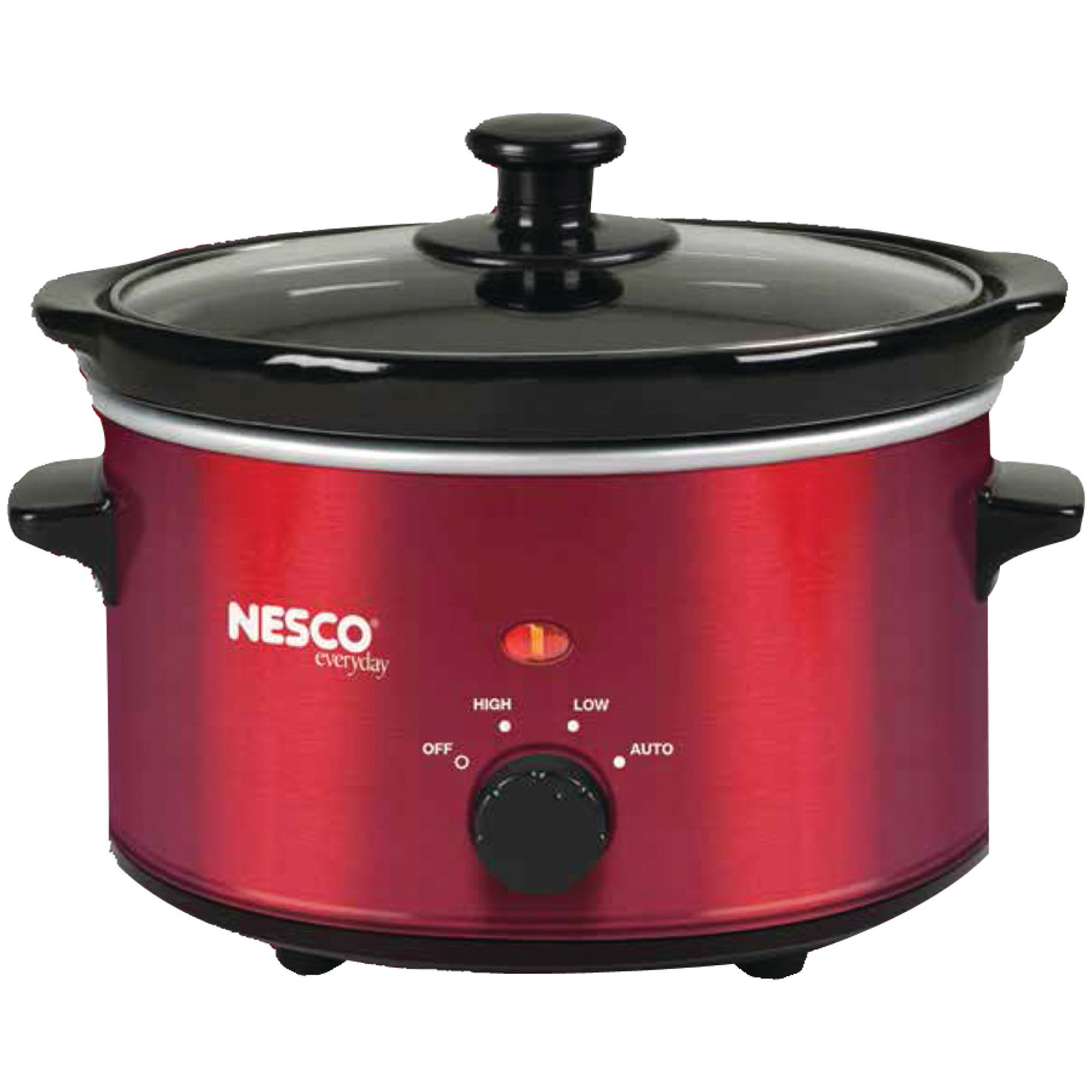 Nesco SC-150R 1.5-Quart Oval Slow Cooker, Metallic Red