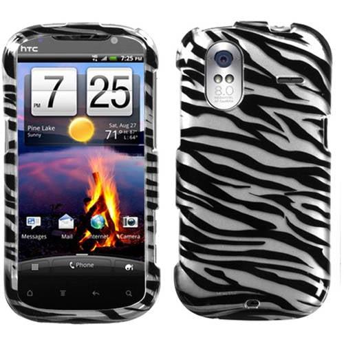HTC Amaze 4G MyBat Protector Case, Zebra Skin 2D Silver