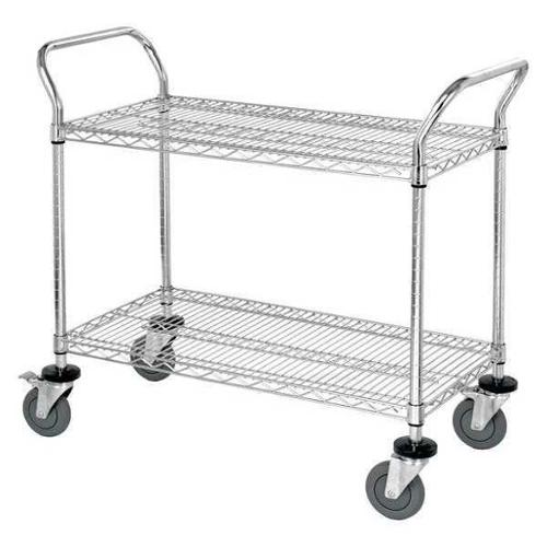 QUANTUM STORAGE SYSTEMS WRSC-1836-2 Wire Utility Cart,39 in. L x 18 in. W