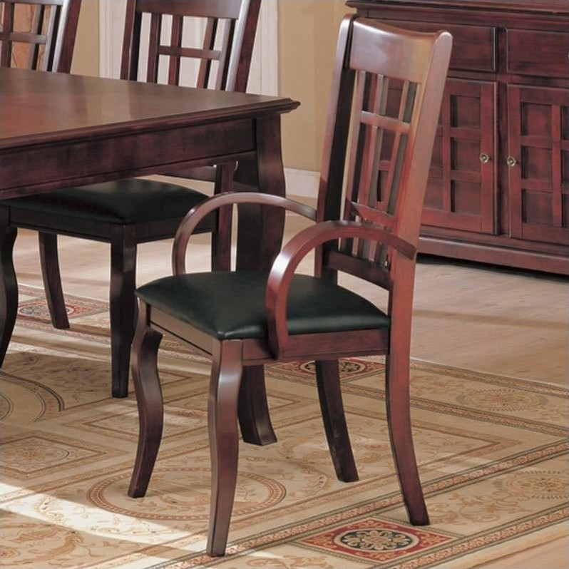 Coaster Newhouse Dining Armchair in Cherry by Coaster