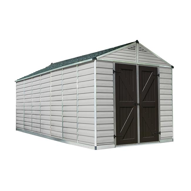 SkyLight Storage Shed - 8 x 20 ft. - Tan