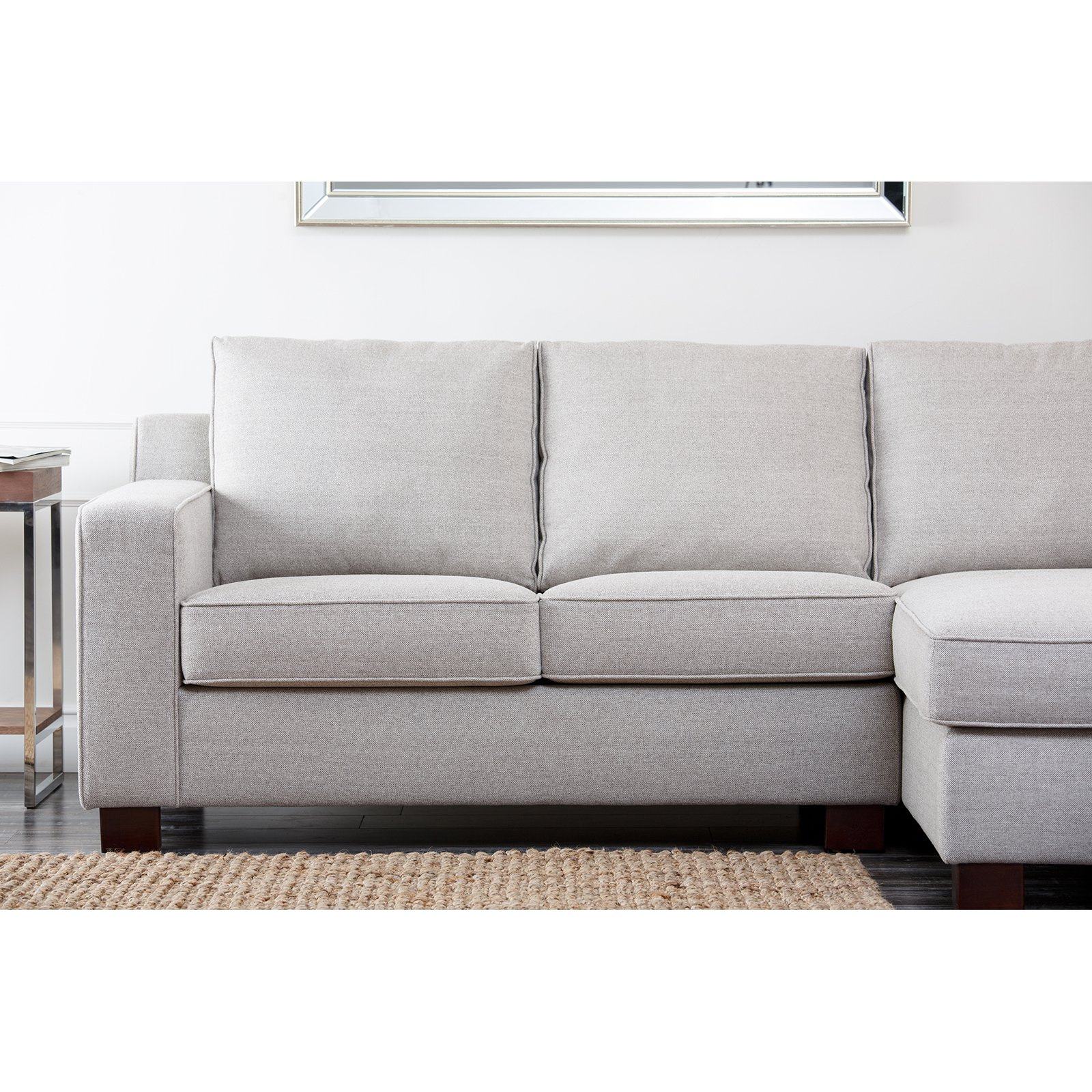 Abbyson Regina Sectional Sofa   Gray   Walmart.com