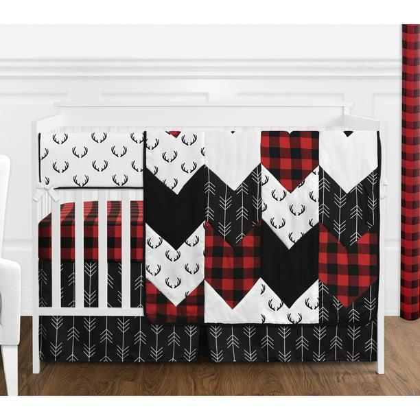 Woodland Buffalo Plaid Baby Boy Crib, Buffalo Plaid Crib Bedding Set
