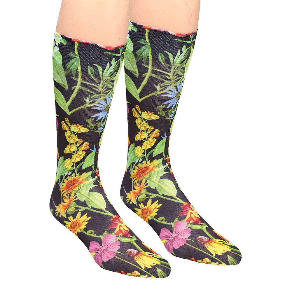 Women's Celeste Stein Printed Moderate Compression Knee High Stockings - Wild Flower