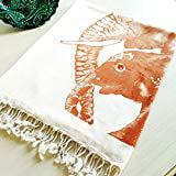 Very Soft Bamboo Beach Bath Towel Lightweight Natural Dyed Printed Turkish Towel Peshtemal Perfect for Beach B