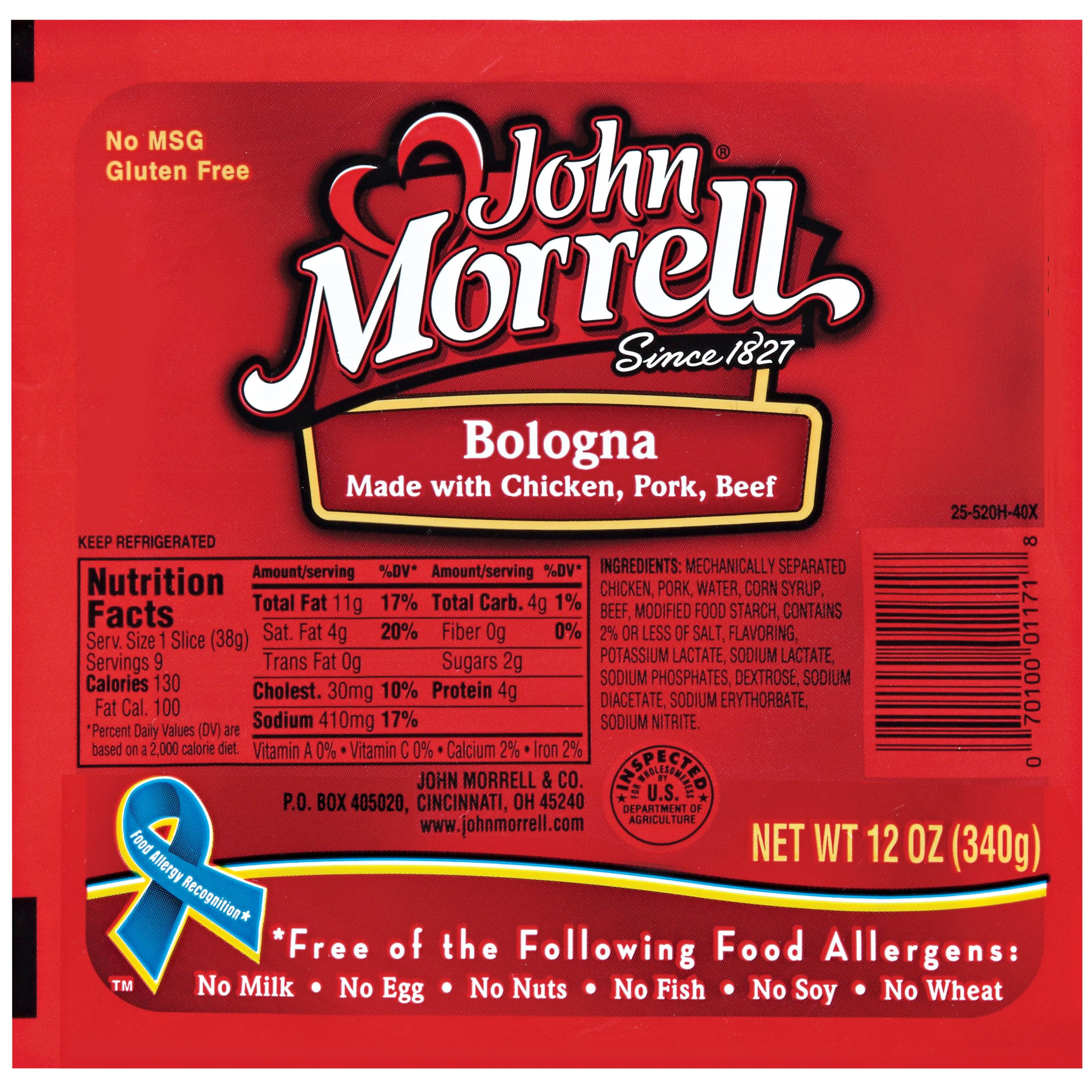 John Morrell Bologna Lunchmeat 12 Oz Well
