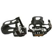 """Alloy Pedals W/Toe Clips 9/16"""" Black. Bike pedals, bicycle pedal, mostly for bikes with three piece crank, track, fixie,"""