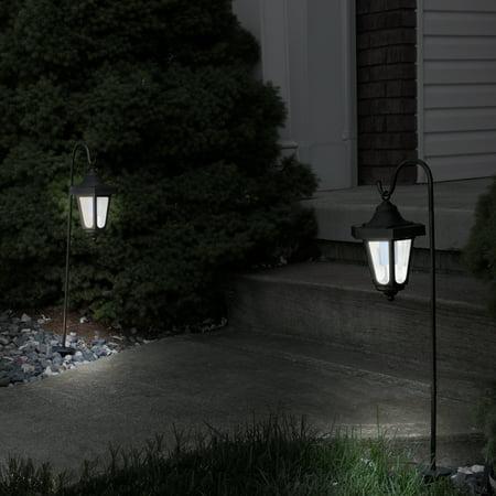 Solar LED Hanging Coach Lanterns – Black - Set of 2 by Pure Garden