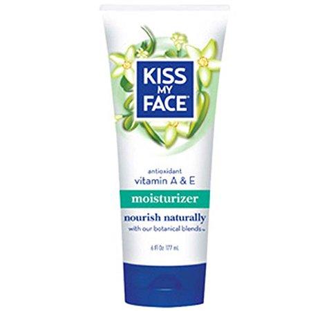 Kiss My Face Vitamin A & E Natural Moisturizer, Body Lotion with Aloe Vera, 6 Ounce