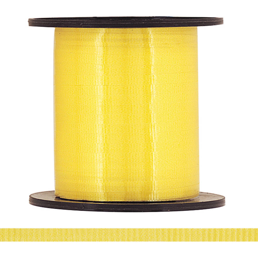 Curling Ribbon, Yellow, 500 yd, 1ct
