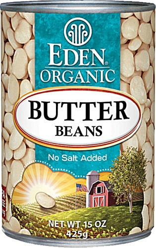 Eden Foods Organic Butter Beans Low Fat 15 oz by Eden Foods