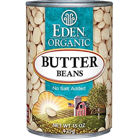 (6 Pack) Eden Foods Organic Butter Beans, Low Fat, 15 Oz