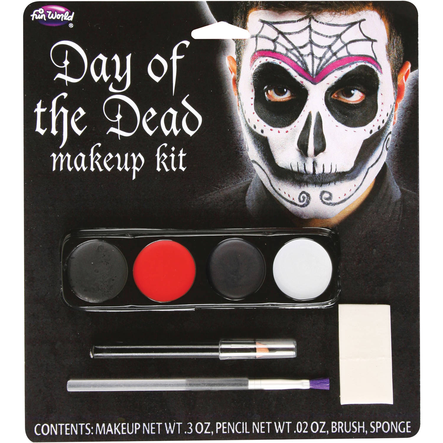 Male Day Of The Dead Makeup Kit Adult Halloween Accessory ...