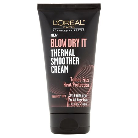 Best Hair Cream (L'Oreal Paris Advanced Hairstyle BLOW DRY IT Thermal Smoother Cream 5.1 FL OZ )