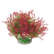 Unique Bargains Unique Bargains Aquarium Decorative Red Green Plastic Plant 8.7  Height