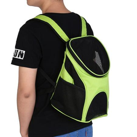 ANGGREK  VBESTLIFE Pet Carrier Premium Travel Outdoor Mesh Backpack Carry Bag Accessory for Dog Cat Small Pets Green/Black