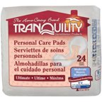 Tranquility Ultimate Personal Care Pads, 24 count