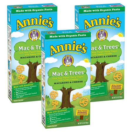 (3 Pack) Annie's Mac and Trees Macaroni and Cheese, 5.5