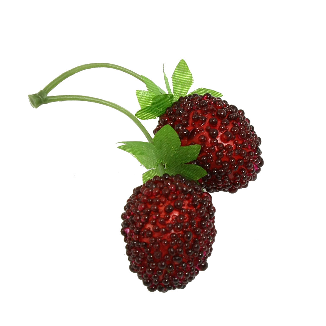 Unique Bargains Manmade Bunch Red Bayberries Green Leaves Fruit Decor Adornment