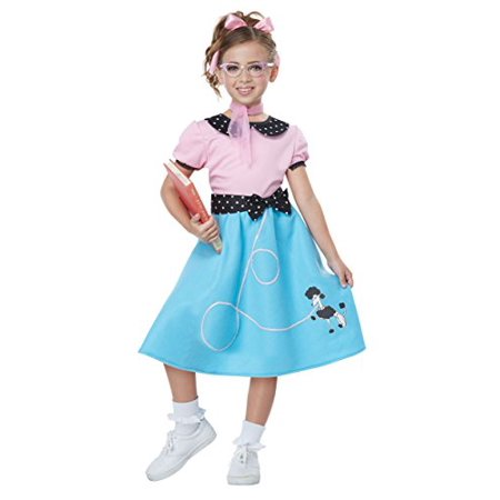 Blue 50'S Sock Hop Dress Girls Costume X-Small - image 1 de 1