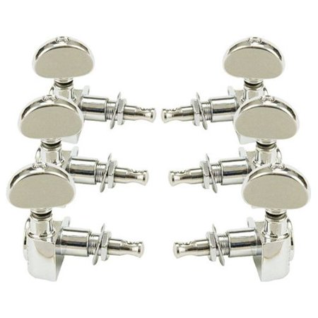 Grover Tuning Keys - Rotomatic Guitar Tuning Machines - 14:1 Ratio - 3 per side - Nickel, Worm and gear are precision-cut for perfect meshing. This eliminates backlash.., By Grover