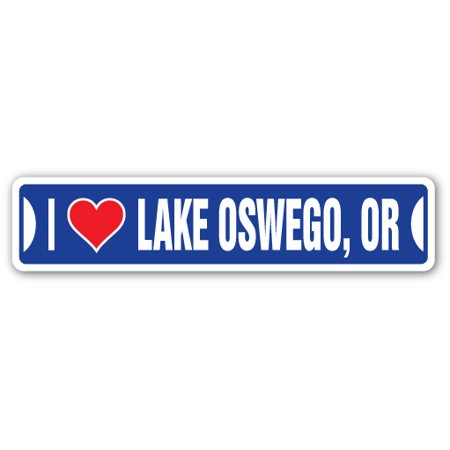 I LOVE LAKE OSWEGO, OREGON Street Sign or city state us wall road décor gift - Party City Oregon