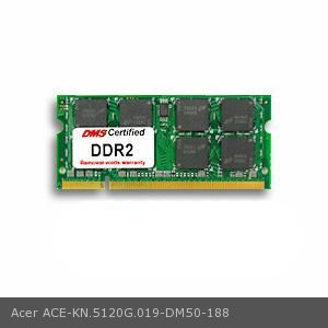 - DMS Compatible/Replacement for Acer KN.5120G.019 Aspire 9802WKMi 512MB DMS Certified Memory 200 Pin  DDR2-667 PC2-5300 64x64 CL5 1.8V SODIMM - DMS