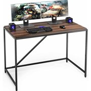 FITUEYES Computer Desk Home Office Writing Study Workstation Simple Stable Modern Steel Frame & Polished Wood Surface Personal Work Table Desk Multi Function Living Room Office Supply, BCD111001WB
