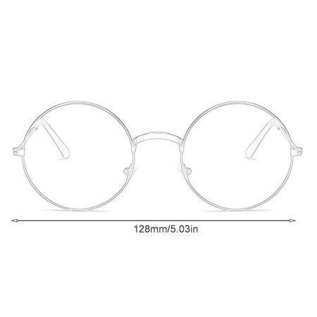 Fashion Plain Glasses Frame Round Metal Frame Optical Eyeglasses Frame - image 5 of 6