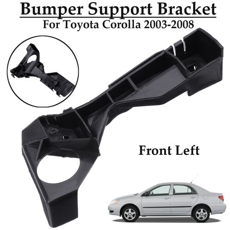 Front Left Bumper Spacer Bracket Black For Toyota Corolla 2003-2008 #5211602061,TO1066142