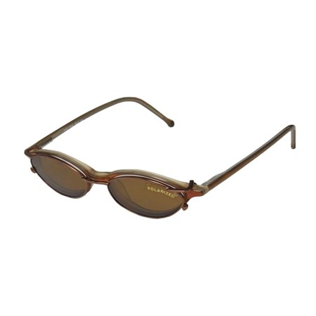 New Smartclip 903 Mens/Womens Cat Eye Full-Rim Honey / Pearl With Brown Clip-On Cat Eye With Polarized Frame Demo Lenses 45-15-140 Sunglass Lens Clip-Ons Flexible Hinges Eyeglasses/Eyeglass Frame](Novelty Glasses With Eyes)