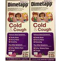Dimetapp Cold & Cough For Children Grape Flavor, 4 oz (Pack of 2)