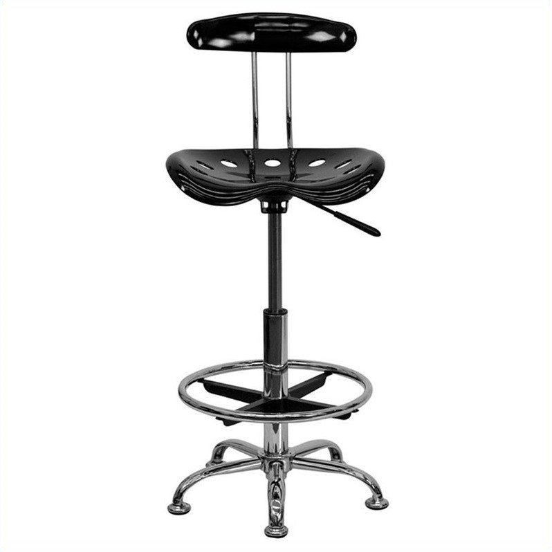 Lovely Adjustable Height Drafting Stool With Tractor Seat, Multiple Colors