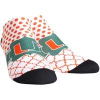 Miami Hurricanes Rock Em Socks Women's Quatrefoil Dots Low Ankle-Length Socks
