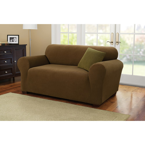 Better Homes and Gardens One-Piece Stretch Fine Corduroy Loveseat Slipcover