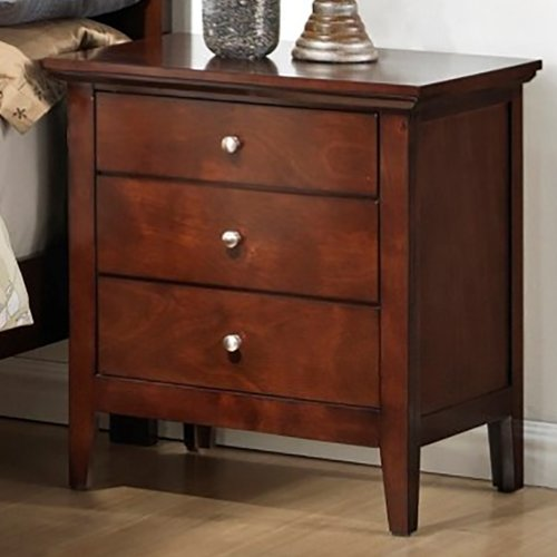 LYKE Home 3 Drawer Nightstand