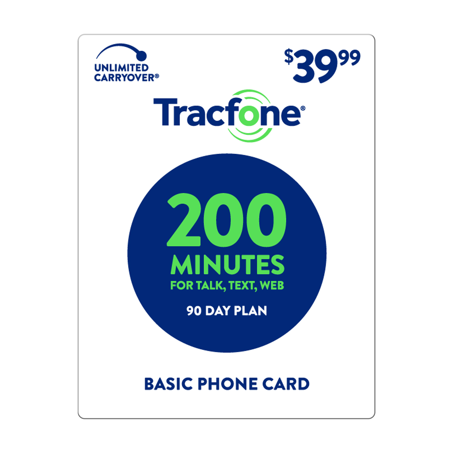 TracFone $39.99 Basic Phone 200 Minutes Plan (Email Delivery)