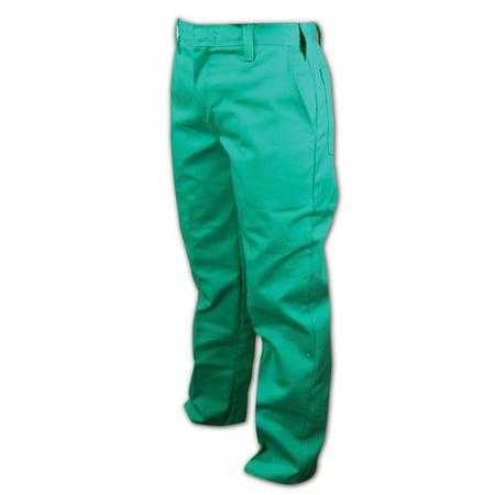 Magid 28 Unhemmed Green Arc-Resistant Pants, Each (Unhemmed Green)