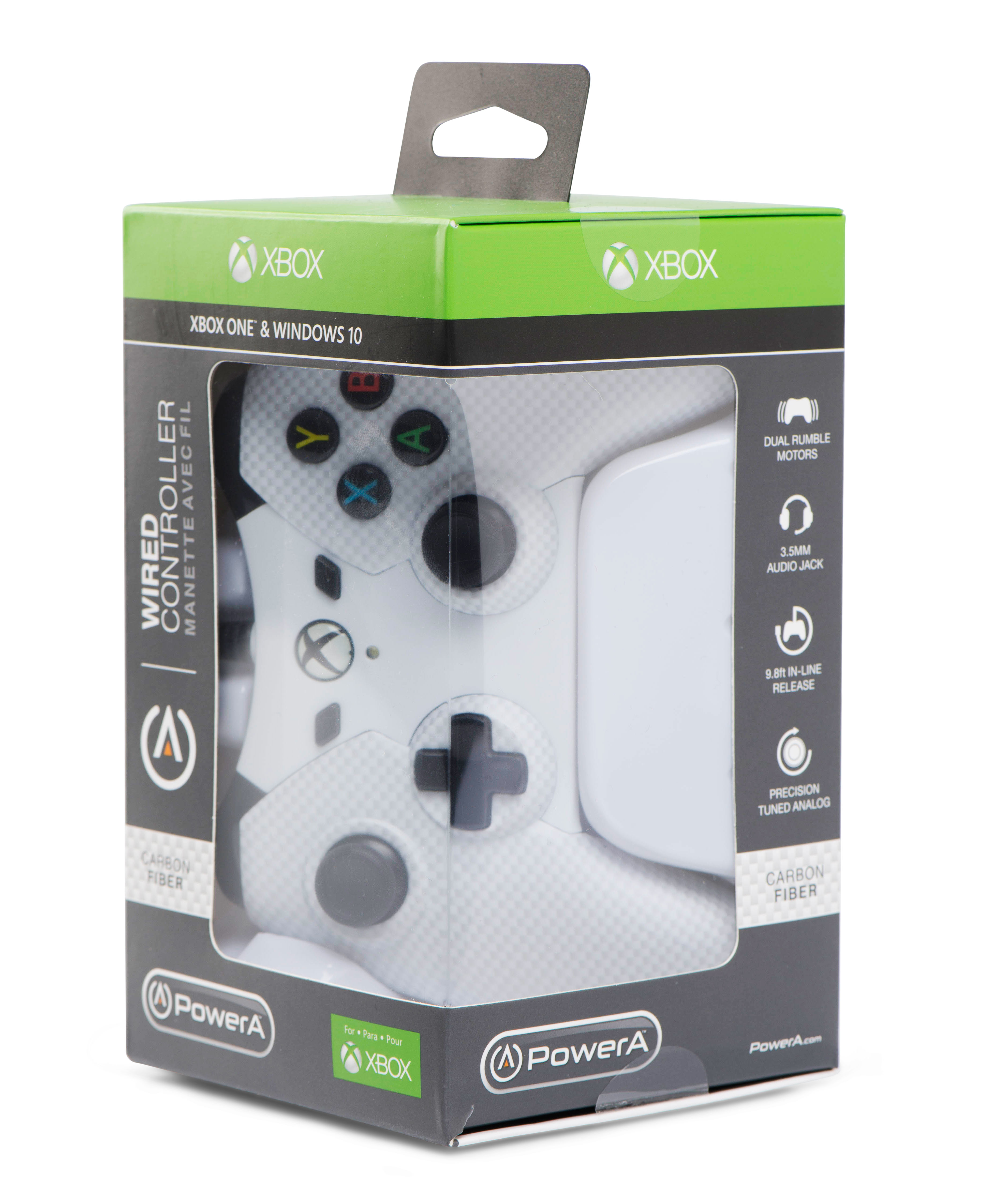PowerA Xbox One, Wired Controller, Carbon Fiber White