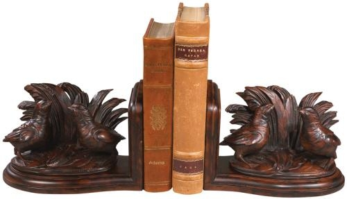 Bookends Bookend 2 Quail Birds Cast Resin New Hand-Cast Hand-Painted Pain OK-806 by