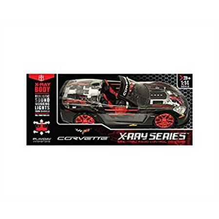 Corvette Earring - X Ray Racer Rc Full Function Corvette - Black And Red - 1:14