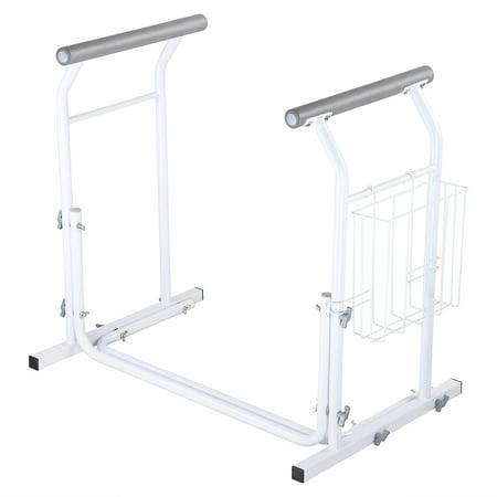 Bar Toilet (Yescom Bathroom Toilet Safety Rail Frame Bar Support 375lbs with Magazine Rack Assist Handrails for Elderly Handicap )