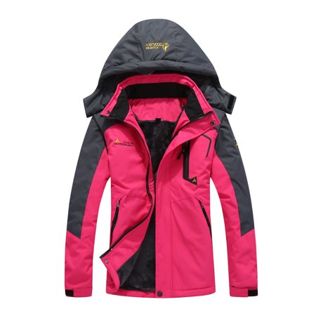 Large Size Female Women Mountain Waterproof Ski Jacket Windproof Rain Winter Inner Fleece Waterproof Jacket Outdoor Sport Warm Brand Coat Hiking Camping Trekking Skiing Femal Male
