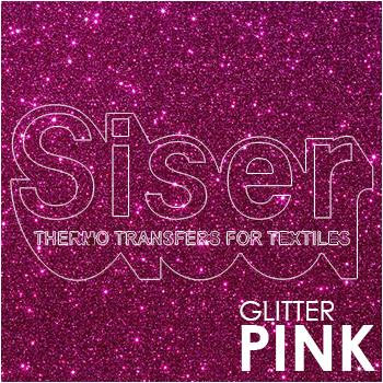 SISER Glitter Hot Pink Iron On Letter Heat Transfer Vinyl HTV Contact Paper Decal Roll (Choose Your Size)
