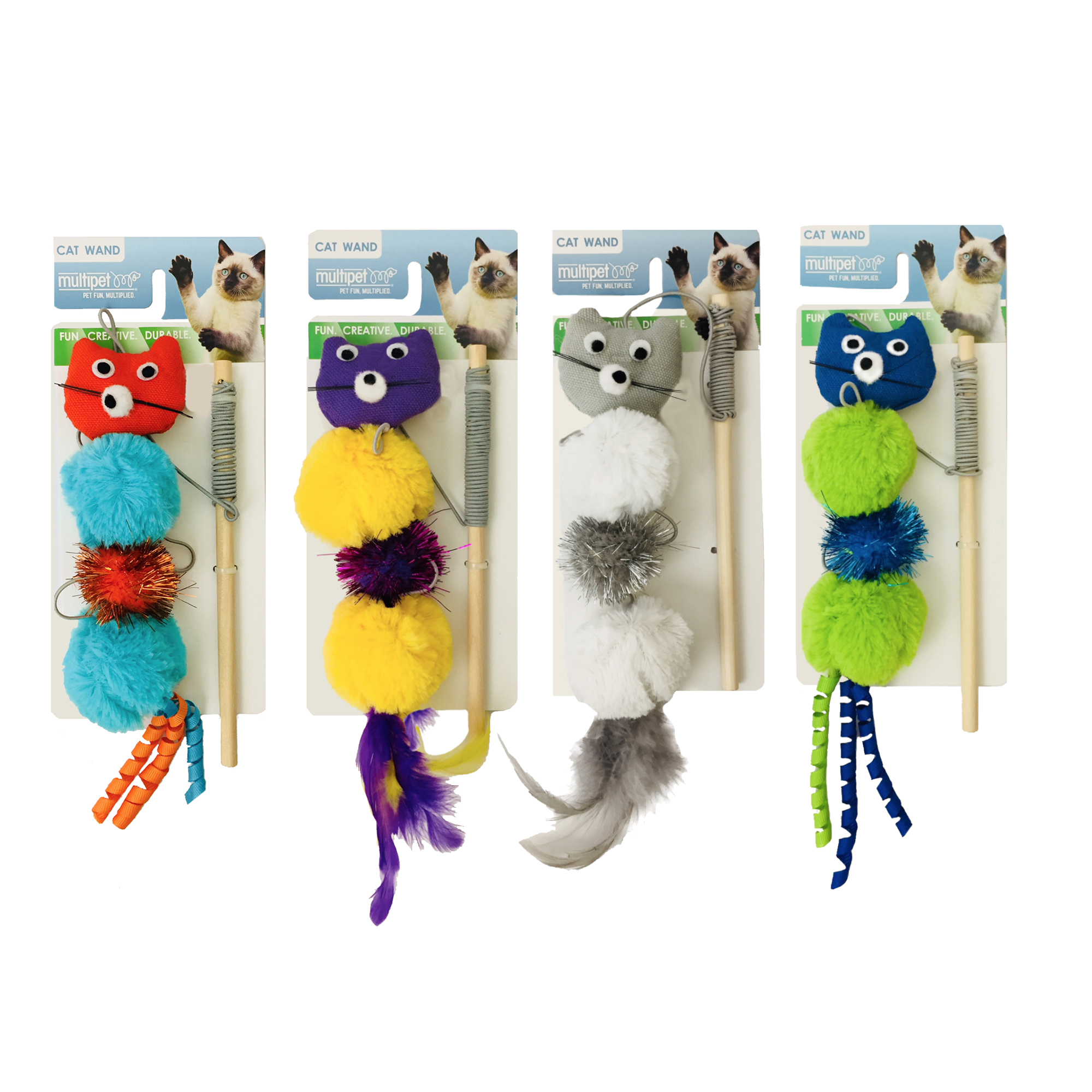 Multipet Wand Cat Toy, Assorted