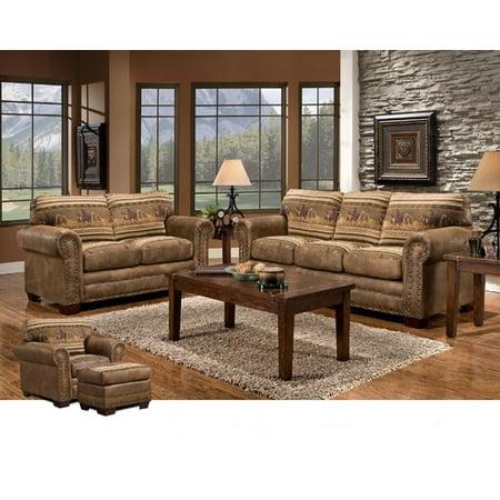 American Furniture Classics Wild Horses Loveseat ()